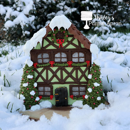 Half Timber Gingerbread House Video Tutorial