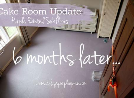 Cake Room Update: Bye Bye Purple Floors!