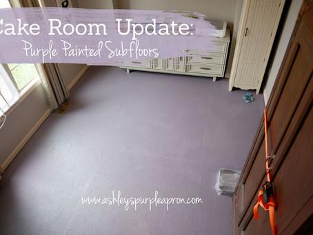 Cake Room Update: Painted Subfloor