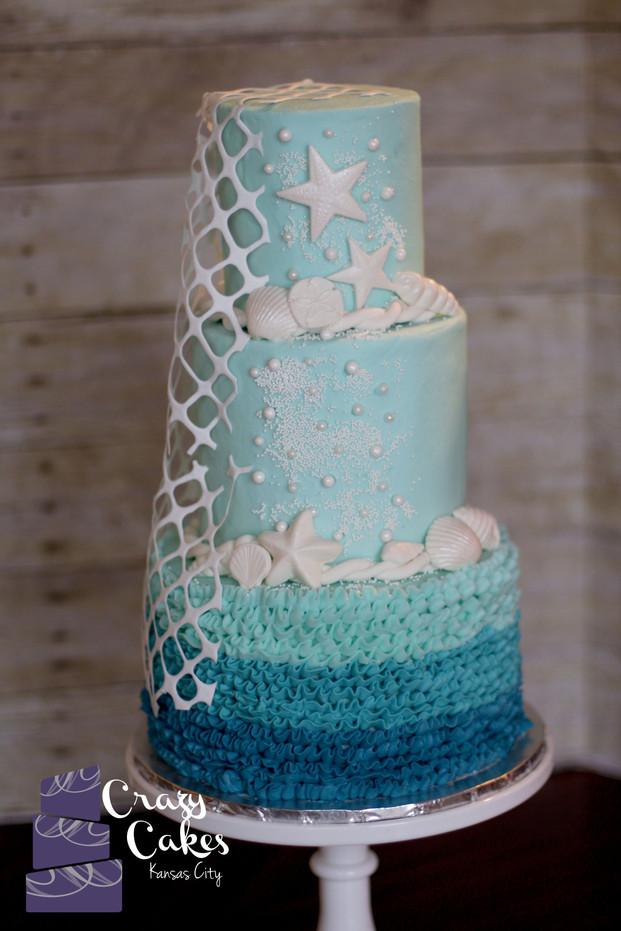 Costal Theme Wedding Cake