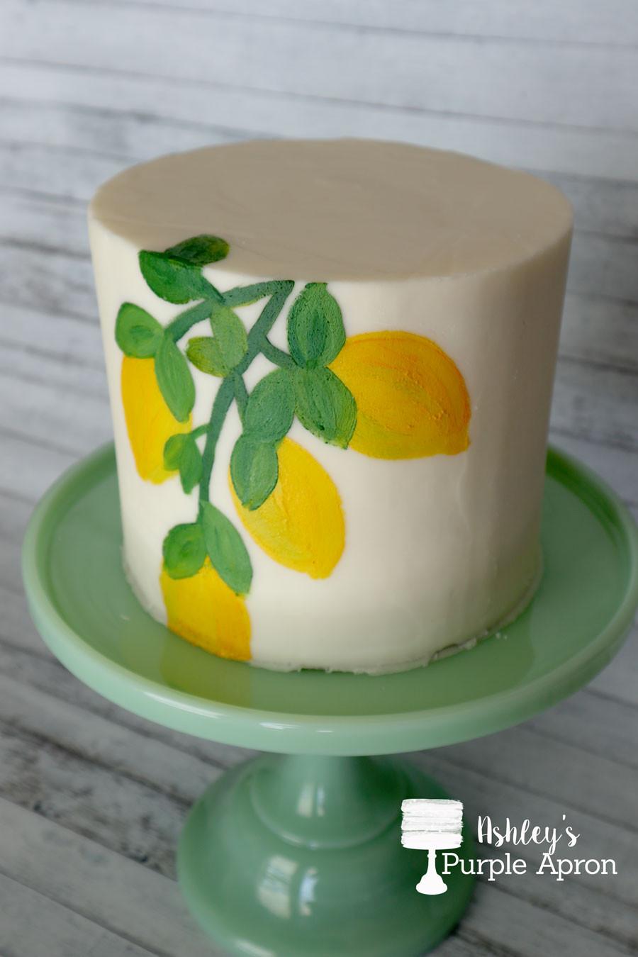 Edible paint on buttercream