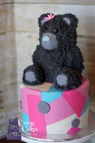 Teddy Bear Quilt Cake