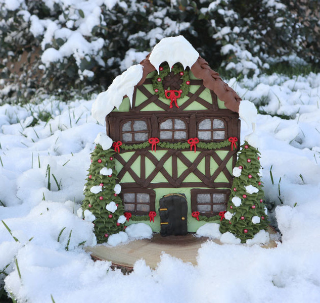 Half Timber Gingerbread House