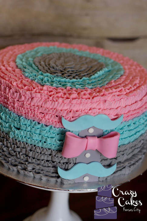 Mustache and Bows Gender Reveal