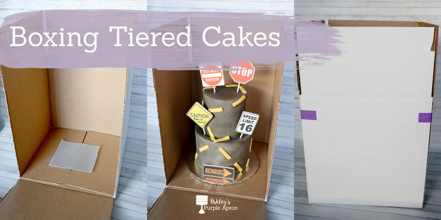 boxing tiered cakes
