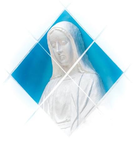 重複曝光-聖母像