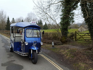 The Tuk Tuk's journey to the Cotswolds