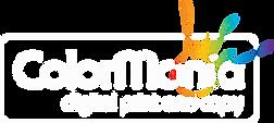ColorMania logo reversed