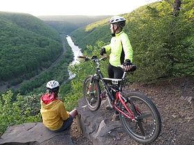 Mountain Bikes overlooking Delaware Water Gap