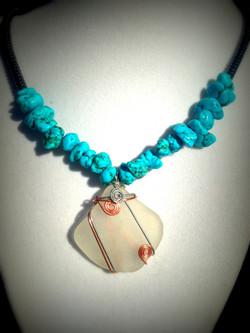 San Clemente Sea Glass_Howlite_Hematite