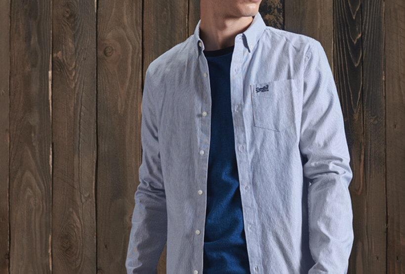 Superdry Ticking Stripe Blue Shirt