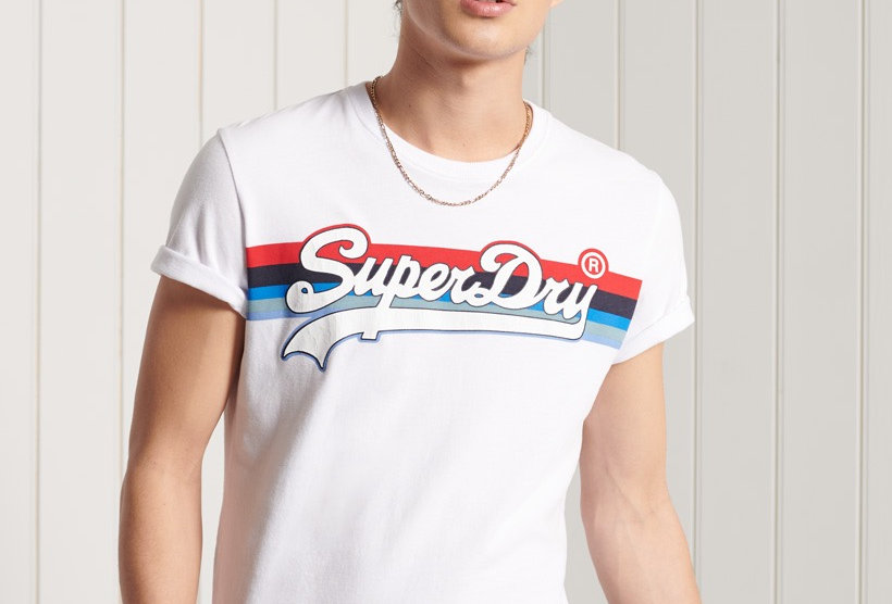 Superdry Cali White Stripe