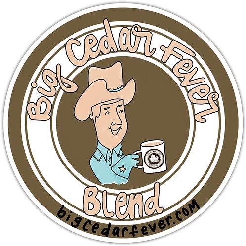 1 Lb Whole Coffee Beans, Big Cedar Fever Blend by Redbud Roasters