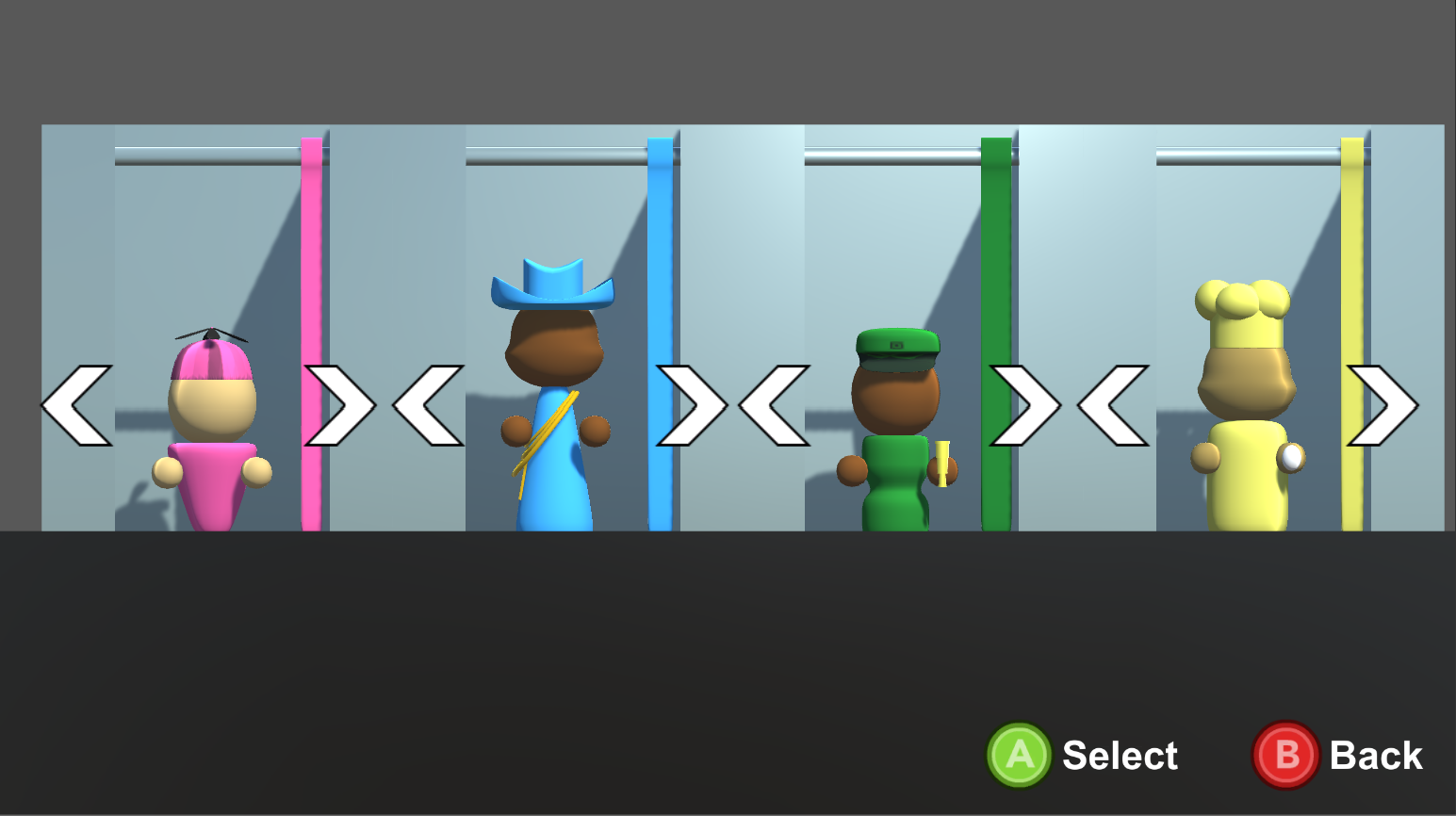 Hat Attack Character Selection