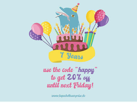 HAPPY BIRTHDAY TO US: WE CELEBRATE 7 YEARS