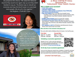 CTUIR COVID-19 ICT WEEKLY UPDATE   April 2, 2021
