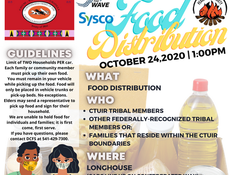CTUIR DCFS Food Distribution [10/24] Info