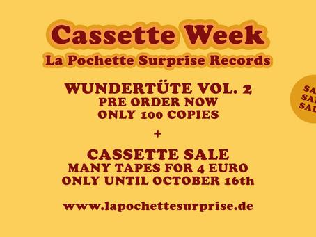 We celebrate Cassette Week 2021 all week. Wundertüte Vol. 2 up for Pre Order Now!
