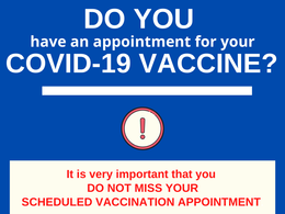 Important Vaccine Appointment Reminder