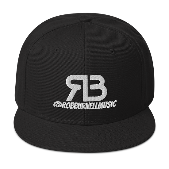 Rob Burnell Music Snapback (WHITE)