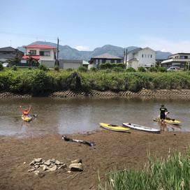 近所の里河で川下り (B&G 錦江湾海洋クラブ)