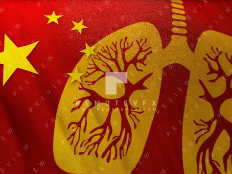 Wuhan Corona Virus and Chinese Flag stock images and clips