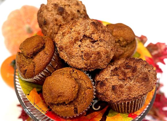 Jumbo Pumpkin Spice Muffins w/ Cinnamon Streusel