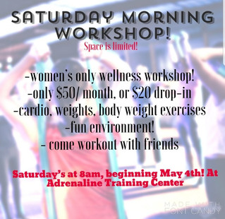New Personal Trainer with new Saturday Ladies class