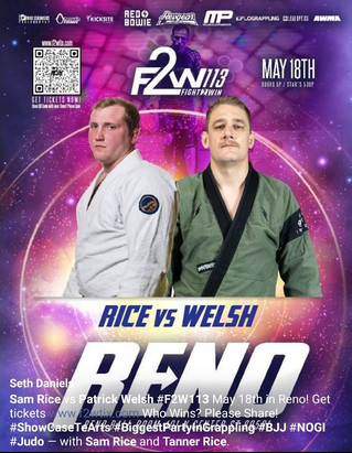 Professor Sam Rice and Coach Brian Beck to compete at Fight 2 Win May 18th