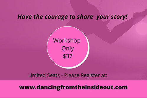 COMING SOON! Story Workshop Admission for One