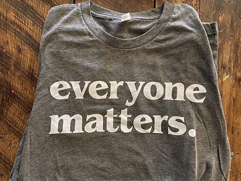 Long Sleeve Grey Everyone Matters T-Shirt