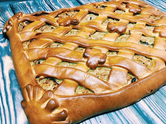 Пирог с курицей и грибами 1/1,5 кг