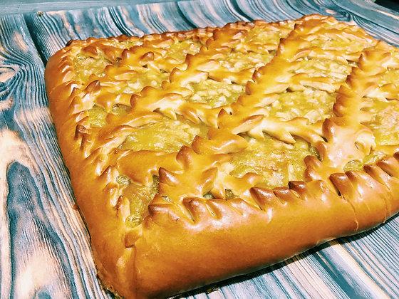 Пирог с грушей и яблоками 1/1,5 кг