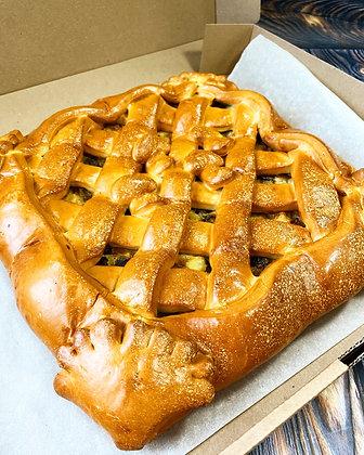 Пирог с картофелем в сливочном соусе и грибами 1/1,5 кг