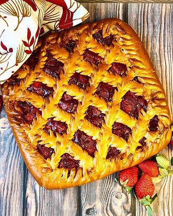 Пирог с клубникой 1/1,5 кг