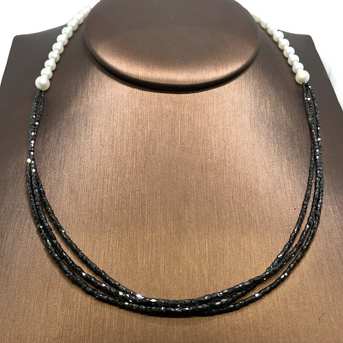 Black Diamonds and Pearls (reversible necklace)
