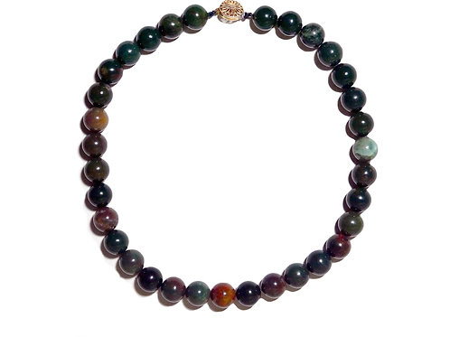 Natural Bloodstone Collar