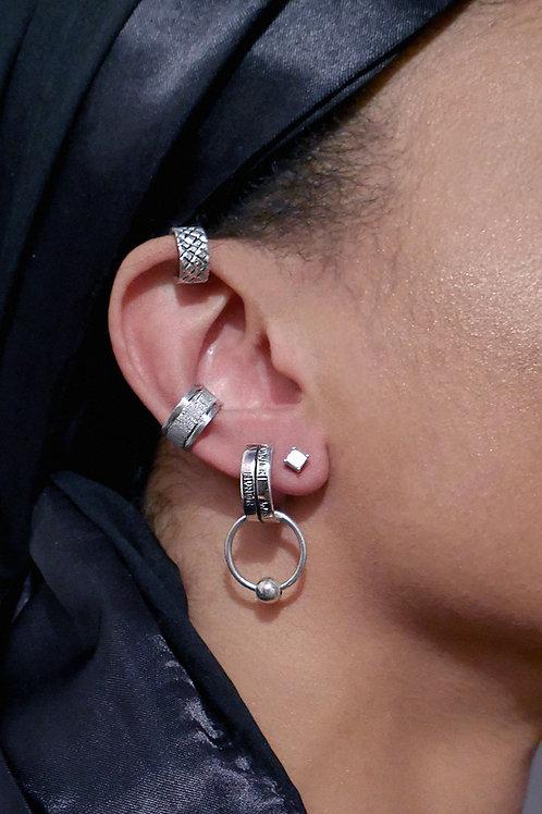 Sterling Diamond Cutter Ear Cuff Set