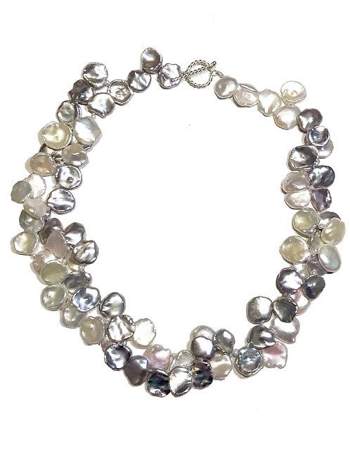 Keshi Petal Pearl Lei Necklace (.925)