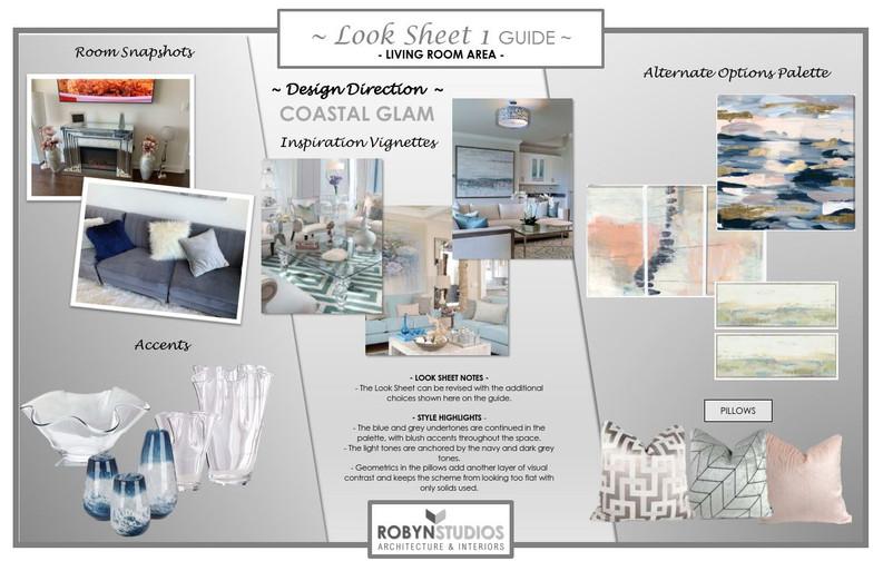 1 - Living Room - Look Sheet 1 Guide - 1