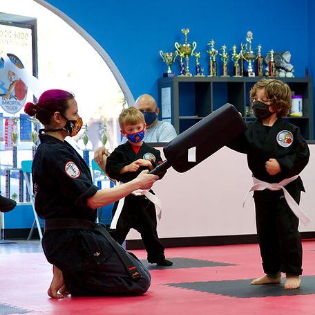 tiny tigers kenpo karate lesson