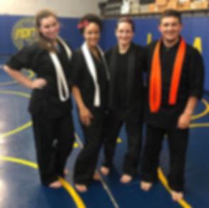 Immortal Tiger Kenpo Karate students after class