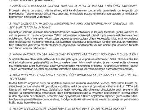 KANNANOTTO KESTÄVÄ KAUPUNKIKEHITTÄMINEN -KANDIHOJELMAAN