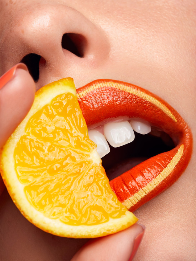 Britta Tess Florian kaefmueller orange lips
