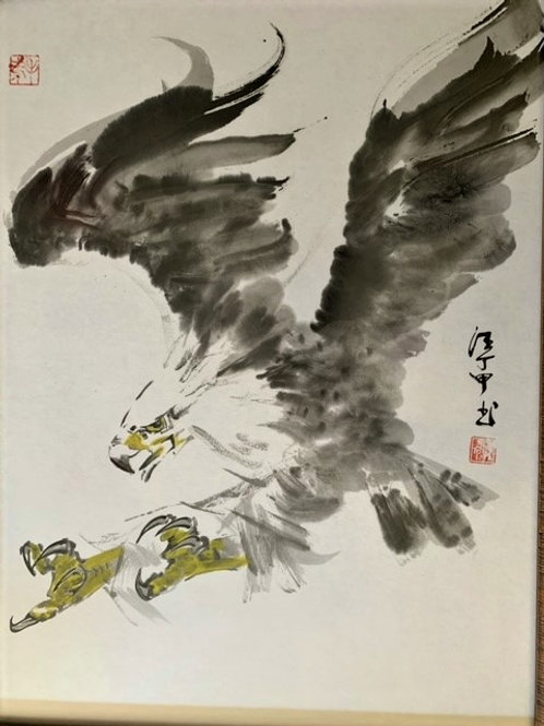 """D. C. Wong : Chinese Painting -1016  Original; Framed; 18""""x24"""""""