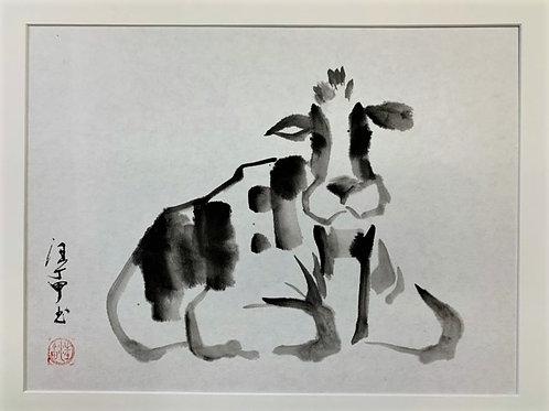 P1005: Framed Chinese Painting; Original; YearOfOx