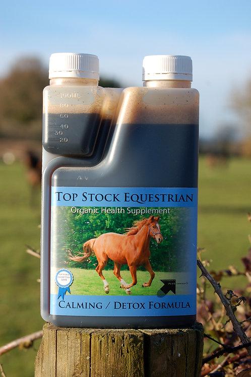 Calming Detox Formula for happy relaxed horses using deep sea kelp