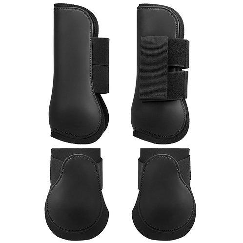 Leg Boots, full set Black