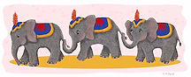 circus elephants.jpg 3 elephants holding tails online shopping link  antiques and collectors store