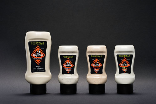 The Mayo Sisters Set van 4 Mayo's (Original 450ML + Truffel 250ML + Piri Piri 25